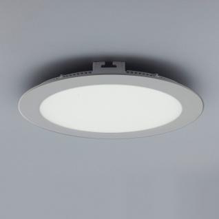 Licht-Design 30828 Einbau LED-Panel 2140lm Dimmbar Ø 30cm Warm Silber