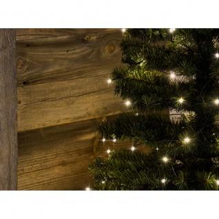 Micro LED Lichterkette gefrostet verschweißt 10 Warmweiße Dioden 24V Innentrafo dunkelgrünes Kabel - Vorschau 3