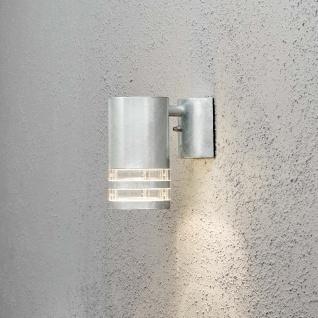 Konstsmide 7515-320 Modena Aussen-Wandleuchte galvanisierter Stahl klares Acrylglas Reflektor