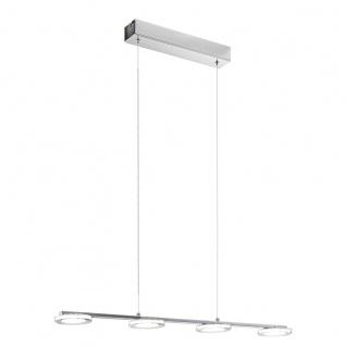 Eglo 94245 Cartama LED Hängeleuchte 4 x 45 W Stahl Chrom Kunststoff klar satiniert