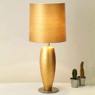 Holländer 039 K 1239 V Tischleuchte Omega Sottile Keramik-Metall BlattverGoldet-Vernickelt