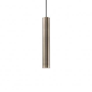 Ideal Lux 141794 Look Pendelleuchte Zylinder Ø 6cm Bronze