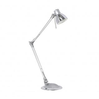 Eglo 95829 Plano LED Tischleuchte Silber Chrom