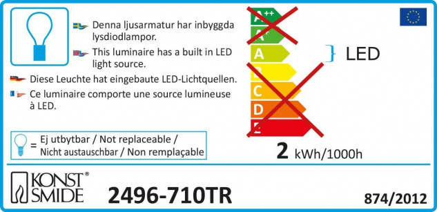 LED Metallleuchter schwarz lackiert 13 Warmweiße Dioden 3V Innentrafo - Vorschau 3