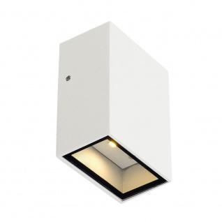 SLV Quad 1 Wandleuchte eckig weiss LED 1x3W 3000K 232461