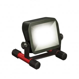 LED Akku-Baustrahler 10W mit Akku Ladestatusanzeige Fluter Arbeitsleuchte Arbeitslampe