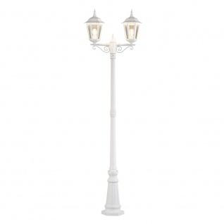 Konstsmide 7234-250 Firenze Standleuchte mit 2 Leuchtenköpfen Weiß klares Glas