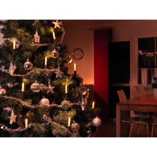 LED Baumkette Schaftkerzen 15 Warmweiße Dioden für Innen