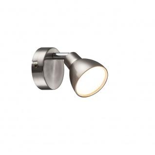 Wofi Lester LED Wandspot 1-flammig Nickel matt Chrom 425101540000