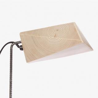 Almleuchten S4 massive Tischleuchte aus Altholz Braun Tischlampe aus Holz - Vorschau 4