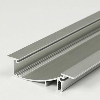 Einbauprofil geschwungen 200cm Alu-eloxiert ohne Abdeckung für LED-Strips
