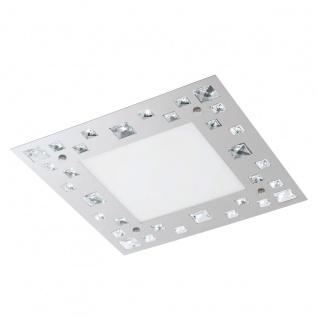 Eglo 94291 Tresana LED Wand & Deckenleuchte 16 W Stahl Chrom Glas Kristall Weiß klar