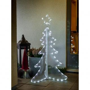 LED Acryl Tannenbaum 3D groß 80 Kaltweiße Dioden 24V Außentrafo