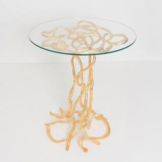 Holländer 344 K 2502 G Tisch Contessa Aluminium-Glas Gold