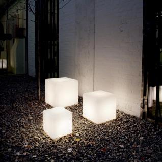 Ideal Lux 115450 Luna Aussenleuchte Würfel 50 x 50cm Weiß Garten-Dekoleuchte