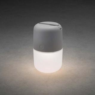 LED Solarleuchte Assisi zum Hängen oder Hinstellen Grau Solar Gartenlampe Gartenleuchte - Vorschau 2