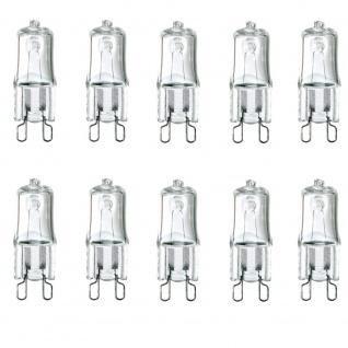 10er-Set G9 Halogen-Leuchtmittel 40W 450lm Halogenlampe