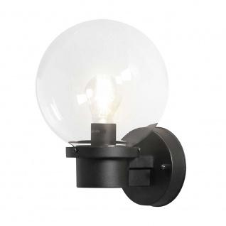 Konstsmide 7322-750 Nemi Aussen-Wandleuchte mit Dämmerungsschalter Schwarz klares Glas