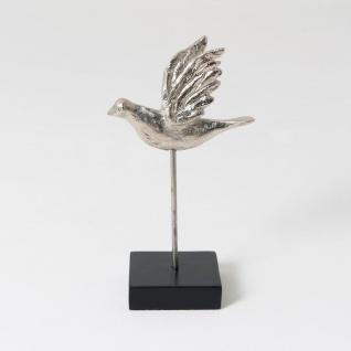Holländer 419 35245 Figur Tordo Piccolo Aluminium-Holz Silber-Schwarz