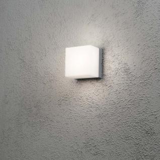 Konstsmide 7926-312 Sanremo Energiespar Aussen-Wand- & Deckenleuchte Grau opales Polycarbonat Glas