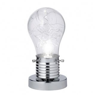 Wofi Futura Tischleuchte Chrom Tischlampe
