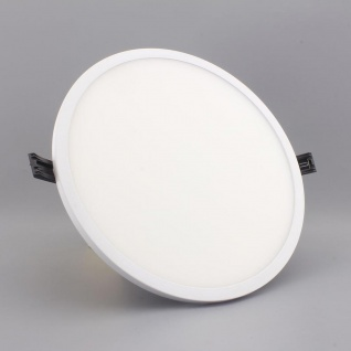 Einbau LED-Panel Ultra mit Mini-Rahmen 2700lm, Ø 22cm, warm