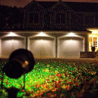Maceda Laser Effekt Außenstrahler mit roten & grünen Lichtpunkten Gartenstrahler