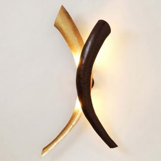 Holländer 300 K 13175 Wandleuchte 2-flammig Serpente Duetto Eisen Braun-Schwarz-Gold