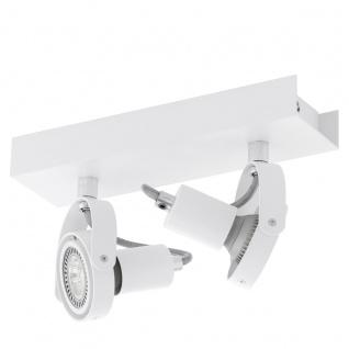 Eglo 94647 Novorio 1 LED Spot 2 x 5 W Stahl Alu Weiß