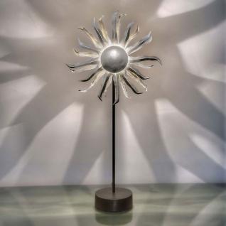 Holländer 300 K 12195 S Tischleuchte 6-flammig Sonne Eisen Schwarz-Silber - Vorschau 1