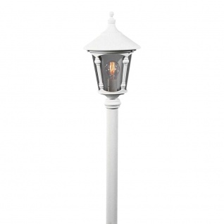 Konstsmide 578-250 Virgo Mastleuchte Weiß rauchfarbenes Acrylglas