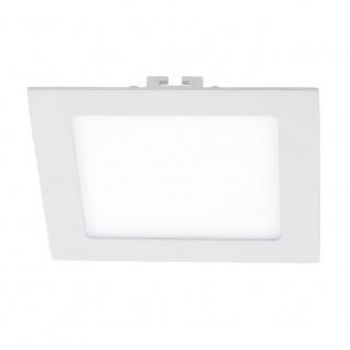 Fueva LED-Einbaupanel 17x17 1200lm Warmweiß Weiß