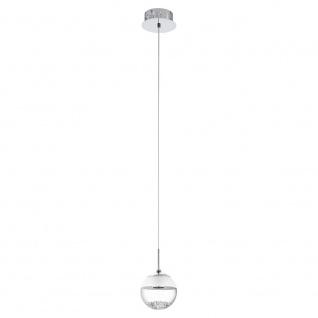 LED Hängeleuchte MONTEFIO 1 1x5W chrom weiss klar Pendellampe
