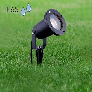 LED GU10 Gartenstrahler Spike mit Erdspieß IP65 Anthrazit