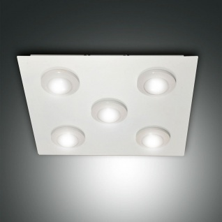 Fabas Luce 3270-65-102 Swan LED Deckenleuchte dimmbar 45 x 45cm 3500lm Weiß