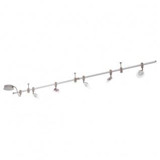 Eglo 94419 Vilanova 1 LED System 5 x 45 W Alu Stahl alu Chrom Glas satiniert Weiß klar