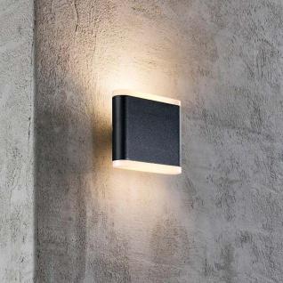 Nordlux LED Aussen-Wandleuchte Akron 11 IP54 Schwarz, Opal Weiß
