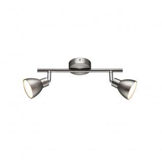 Wofi Lester LED Deckenspot 2-flammig Nickel matt Chrom 725102540000