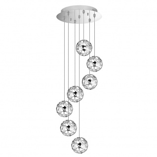 Nova Luce Unita LED Hängeleuchte mit Glaskugeln 7 x 4, 8W 3000K Hängelampe