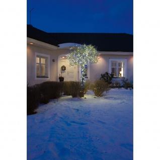 Micro LED Lichterkette 120 Kaltweiße Dioden 24V Außentrafo