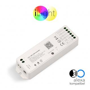 s.LUCE iLight Funk-Controller 5 in 1 Alexa Kompatibel für LED-Strips 8-Zonen Universal-Controller Zubehör