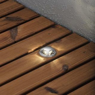 Konstsmide 7678-000 Mini LED Bodenspots 3-tlg. Erweiterungsset zu 7659 klares Glas