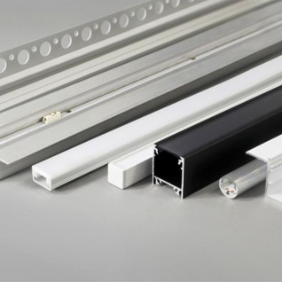 LED Aluminium Profil 2m alle Varianten