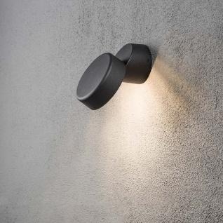 Konstsmide 7527-750 Vicenza LED Aussenwandleuchte 230lm 3000K Schwarz Acrylglas