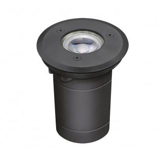Level Bodeneinbaustrahler rund Anthrazit IP54 Einbaulampe Aussen