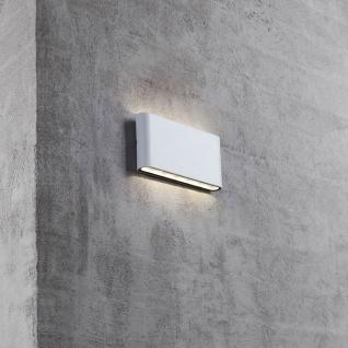 LED Außen Wandleuchte Quadi IP54 Weiß
