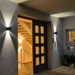s.LUCE pro Ixa LED Wandleuchte + verstellbare Winkel IP44 Aussen-Wandlampe