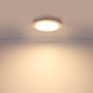 LED Einbauleuchte Polly starr Ausschnitt Ø: 210-220mm Opal, Weiß, Satiniert