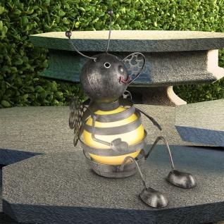 LED Solarleuchte Biene 21cm Gelb-Schwarz Solar Gartenlampe Gartenleuchte