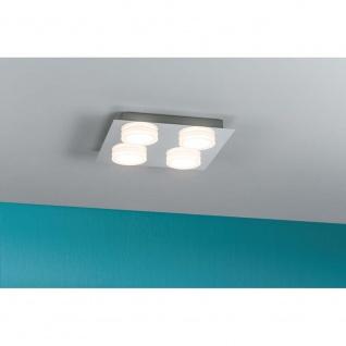 WallCeiling Doradus IP23 LED 4x5W 250x250mm Chrom 230V Metall/Kunststoff